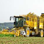 Harvester with Michelin CerexBib